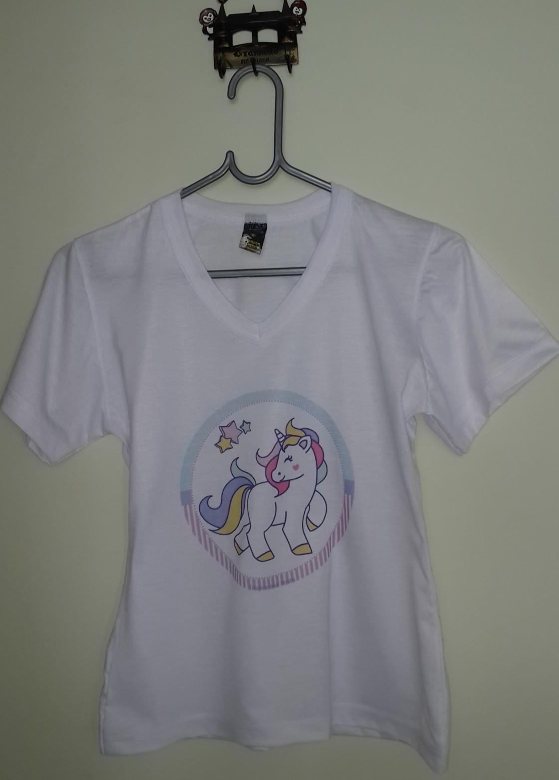 Camiseta Unicórnio - Infantil (estampa Redonda) no Elo7  0c623c7461a92