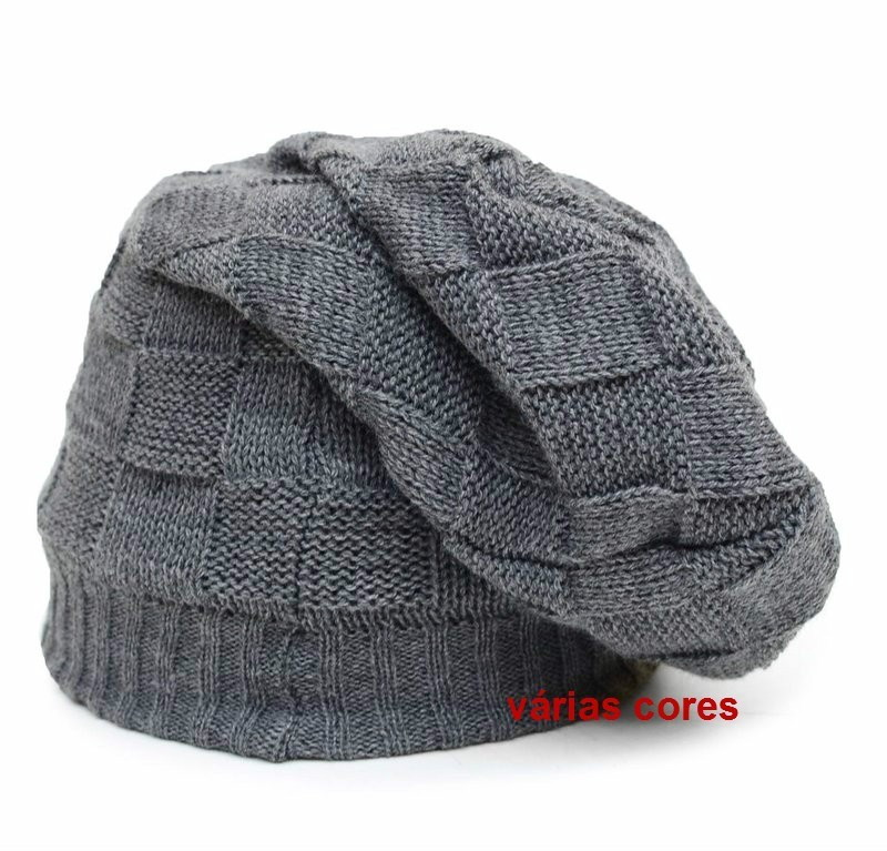 Touca De Lã Lisa ou Trabalhada Gorro Touca Beanie Unissex no Elo7 ... cfc6889aab3