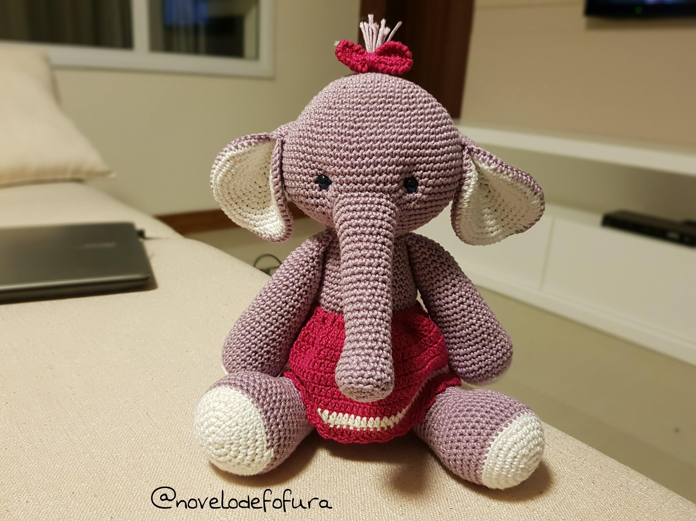 PEQUEÑASONRISAS ® | Elefante Nina Amigurumi -tejido Al Crochet ... | 1982x2643