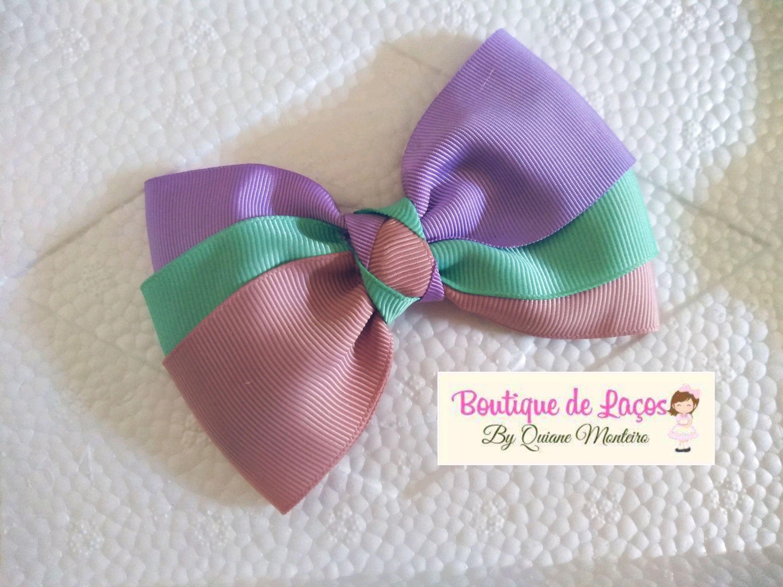 6c698f7beb Tricolor Laço Bow Menina Acessórios Maedemenina