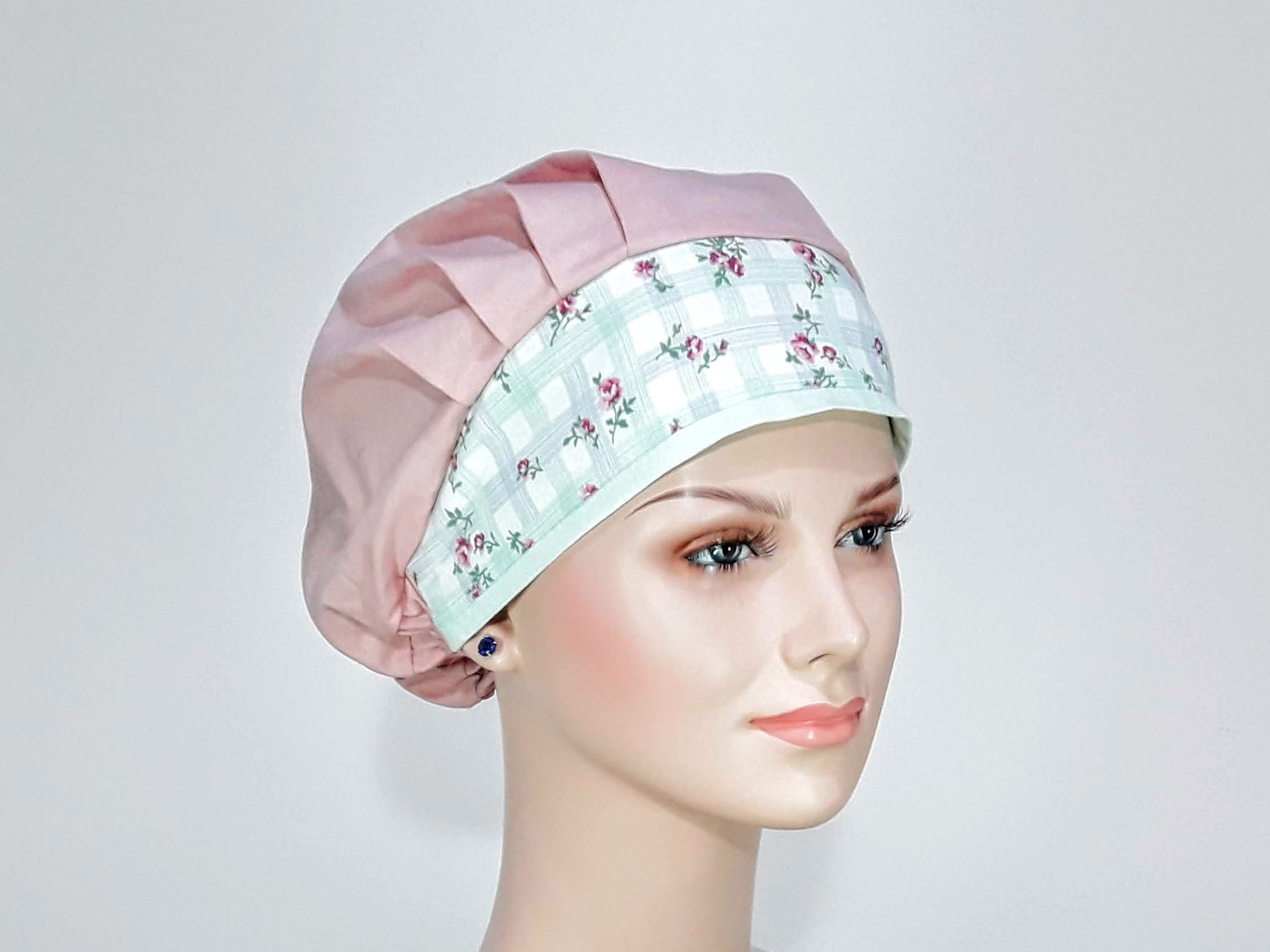 13111b53ee339 Touca Cirurgica Estampa de Rosinhas