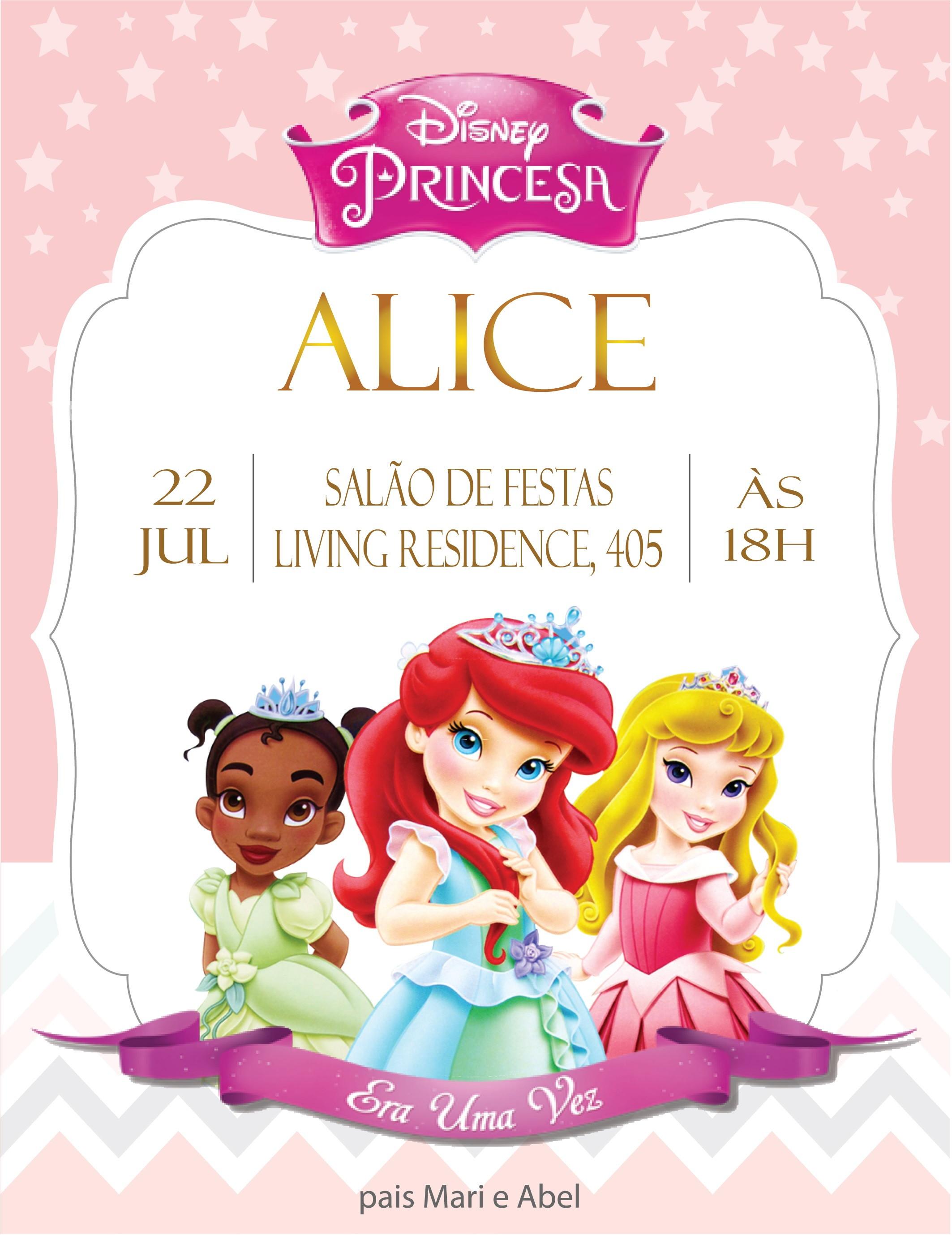 Convite Digital Baby Princesas Modelo 2 No Elo7 Creative Cloud