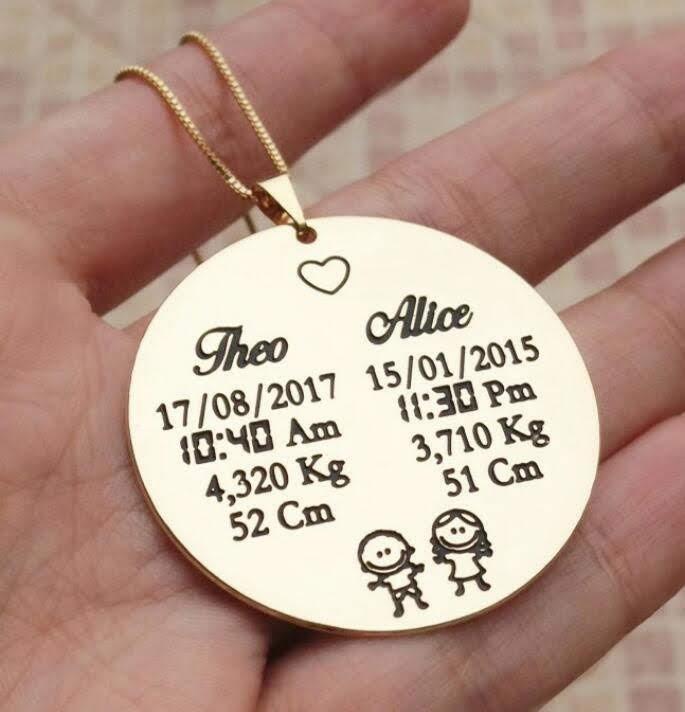 Medalha Personalizada Semi Joia   Elo7 d8a6654091