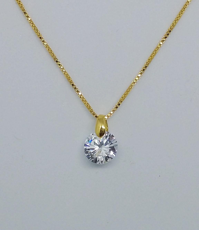 Conjunto folheado a ouro 18 k com diamante sintético no Elo7   Cirillo  Splendore Express semi joias (D404AB) 4892d6c485