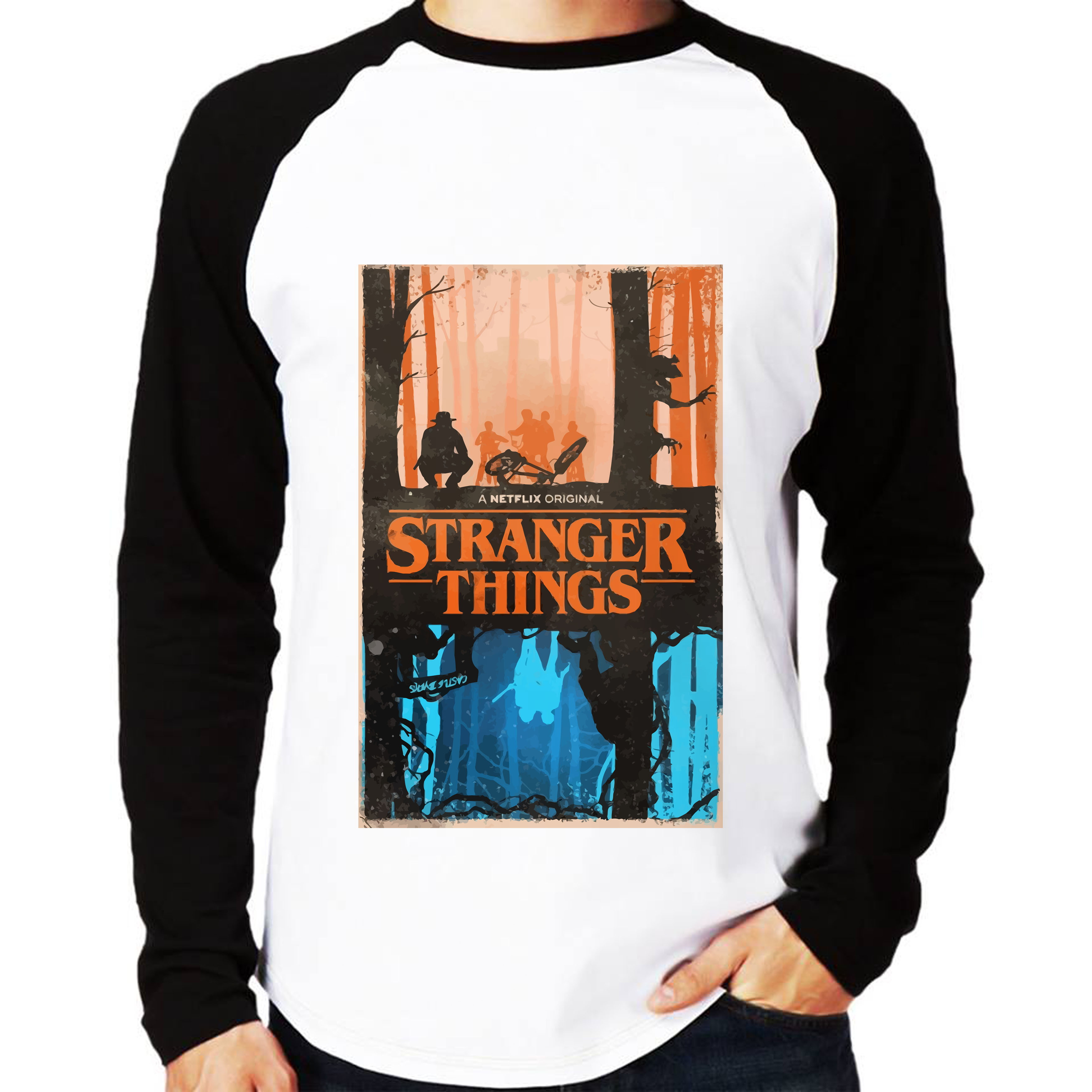 5a492a0c3 Camisa Stranger Things Alfabeto
