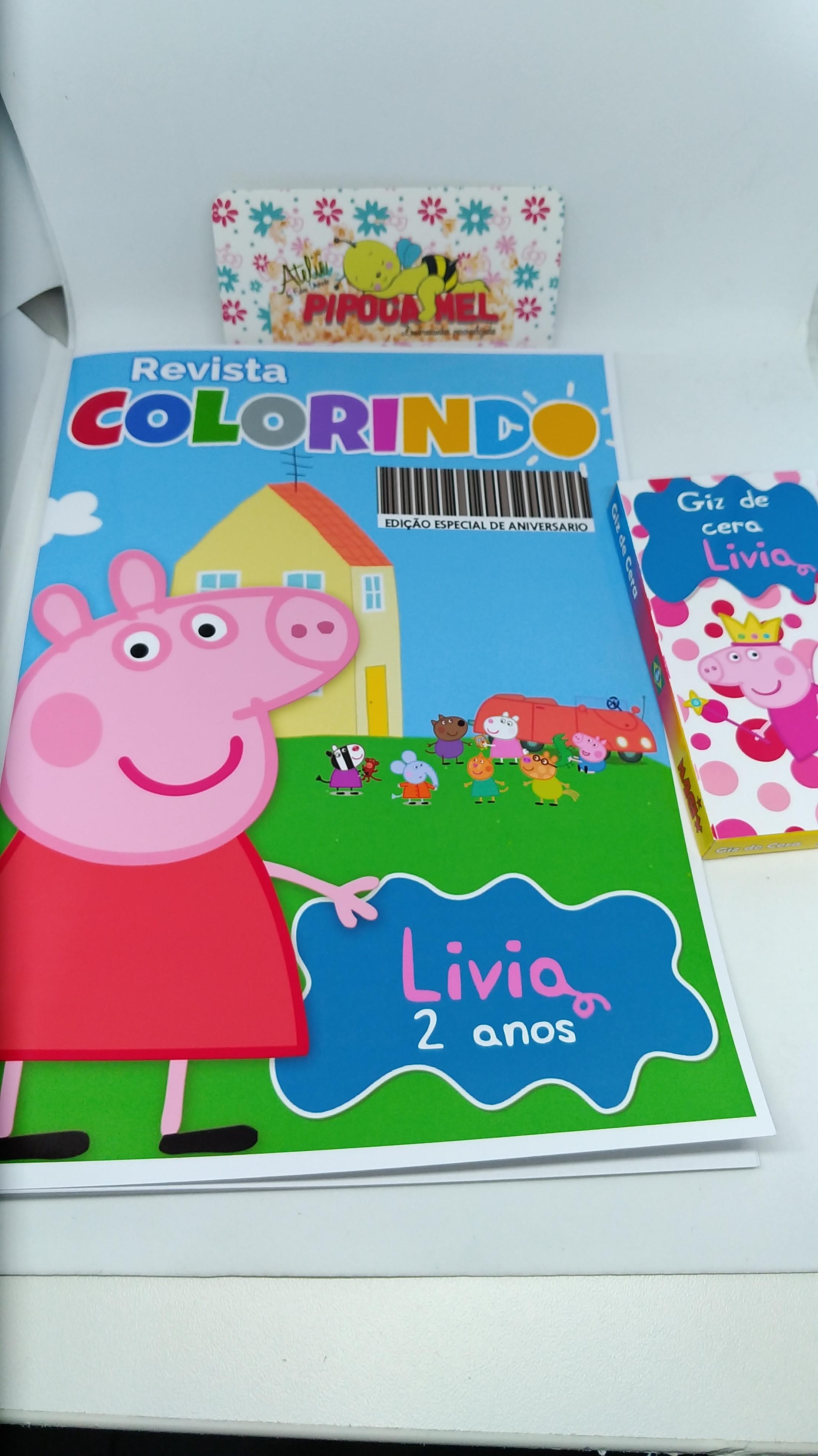Livrinho Para Colorir Giz De Cera Peppa Pig No Elo7 Pipoca Mel
