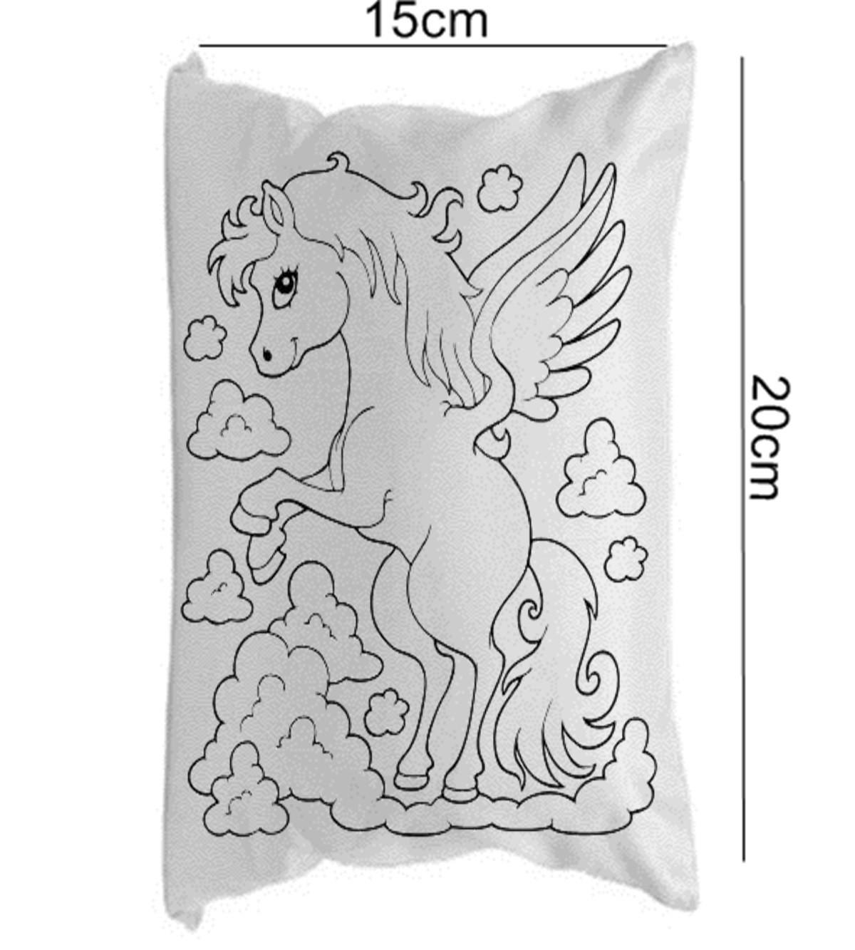 Almofada Para Colorir Unicornio 15x20cm Sem Canetinhas No Elo7