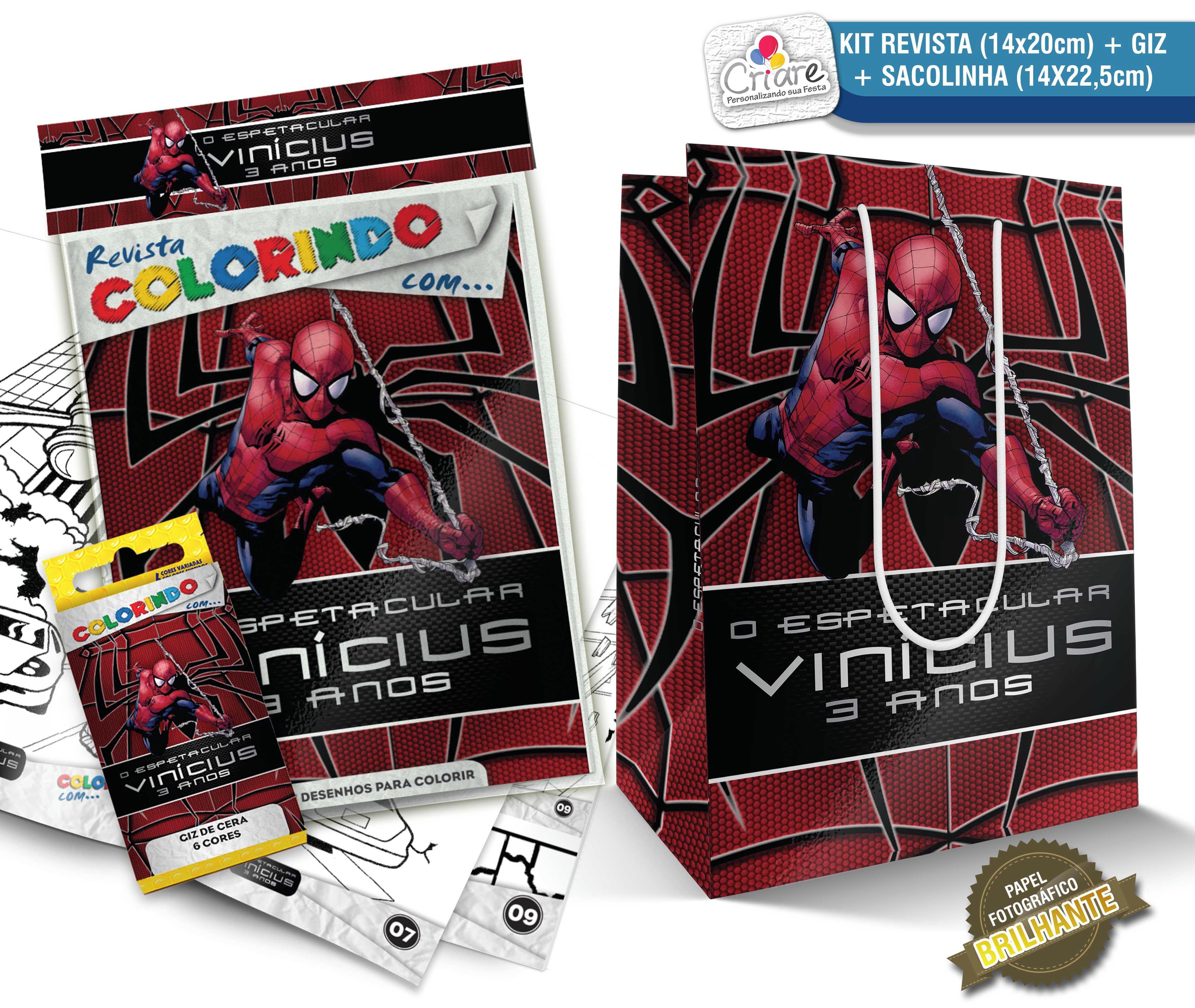 Sacolinha Kit De Colorir Personalizado Homem Aranha No Elo7