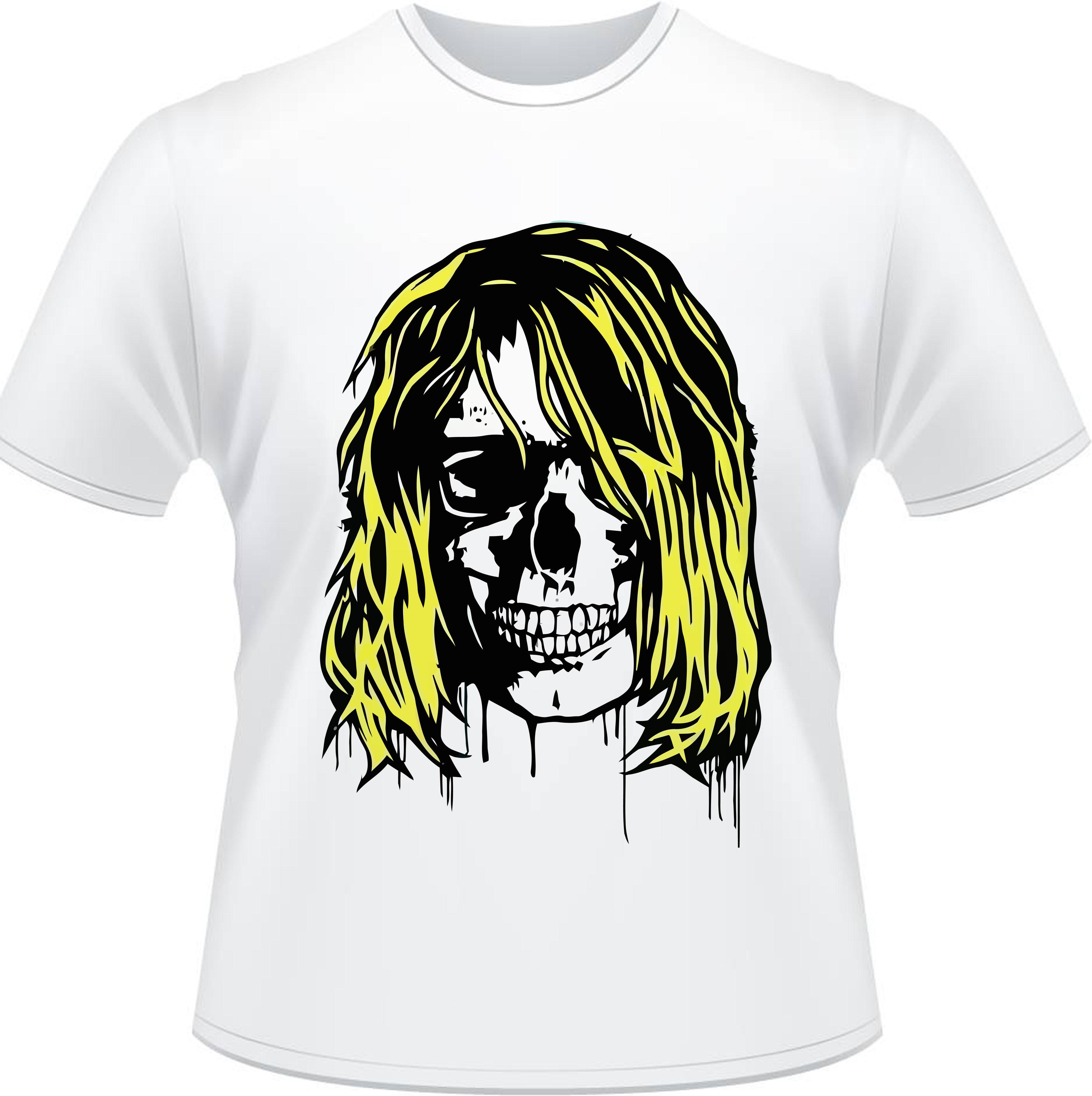 Camiseta Nirvana Kurt Skull Rock Masculina no Elo7  6b0e8060dcf
