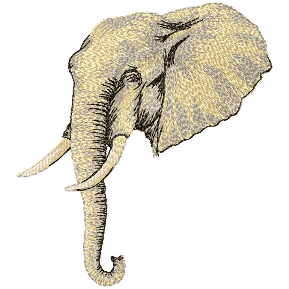 Matriz de Bordado Computadorizado Elefante Aplique  2e006b74737