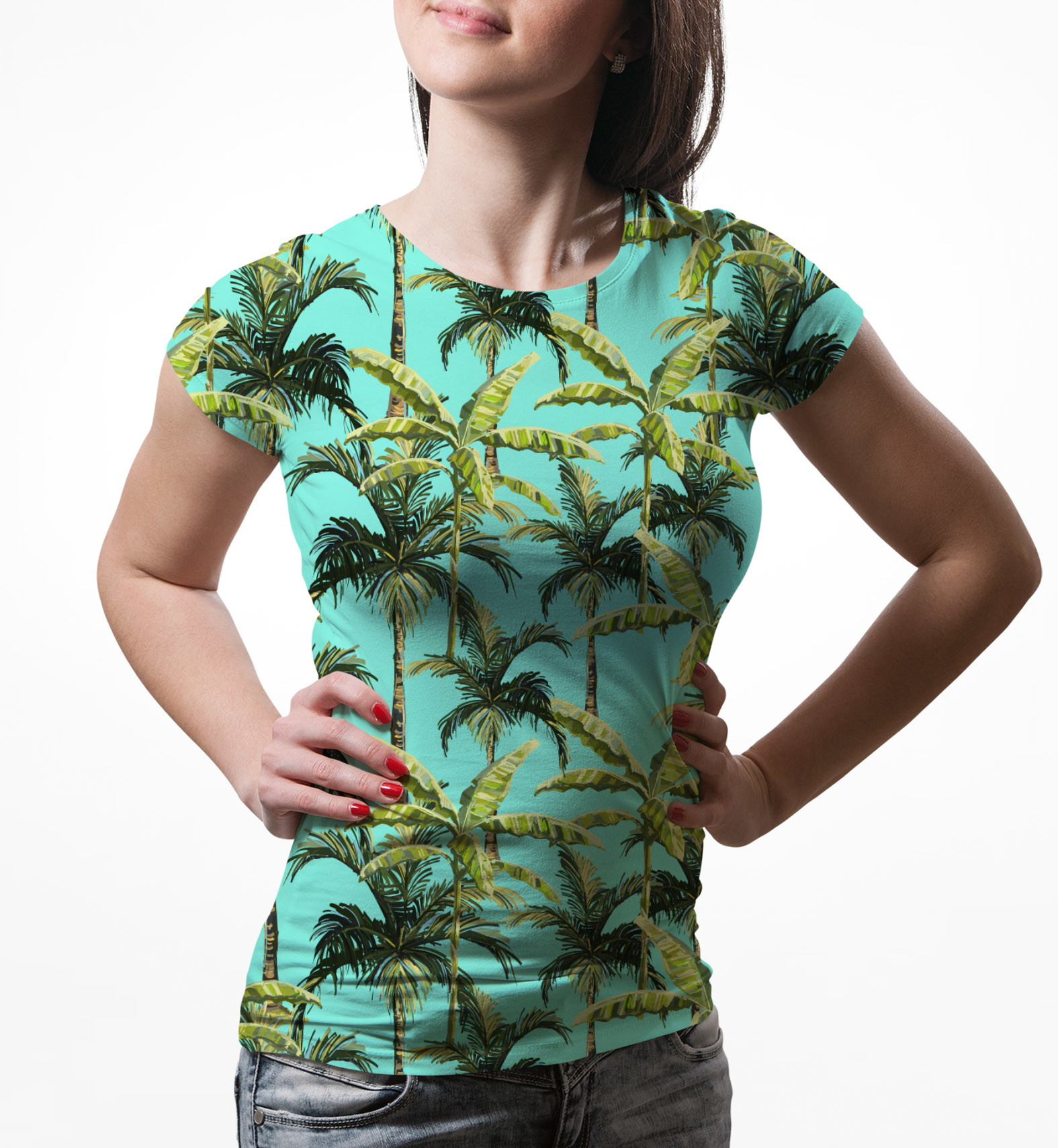1eb192e0c Camiseta Feminina com Estampa Cruz Floral