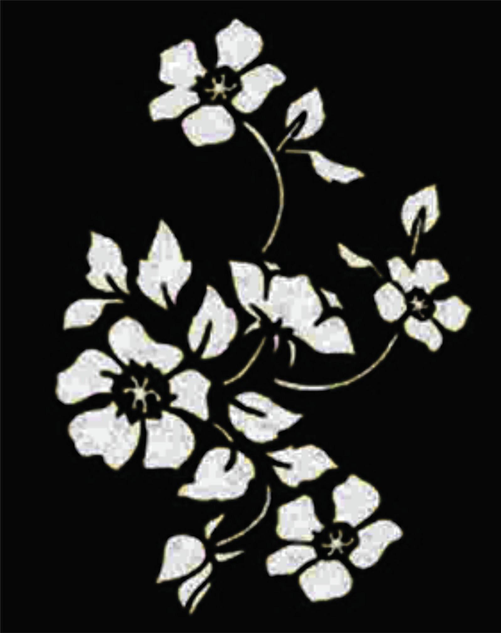 Flores 3 Pecas No Elo7 D Stencil Kimimo D4e712