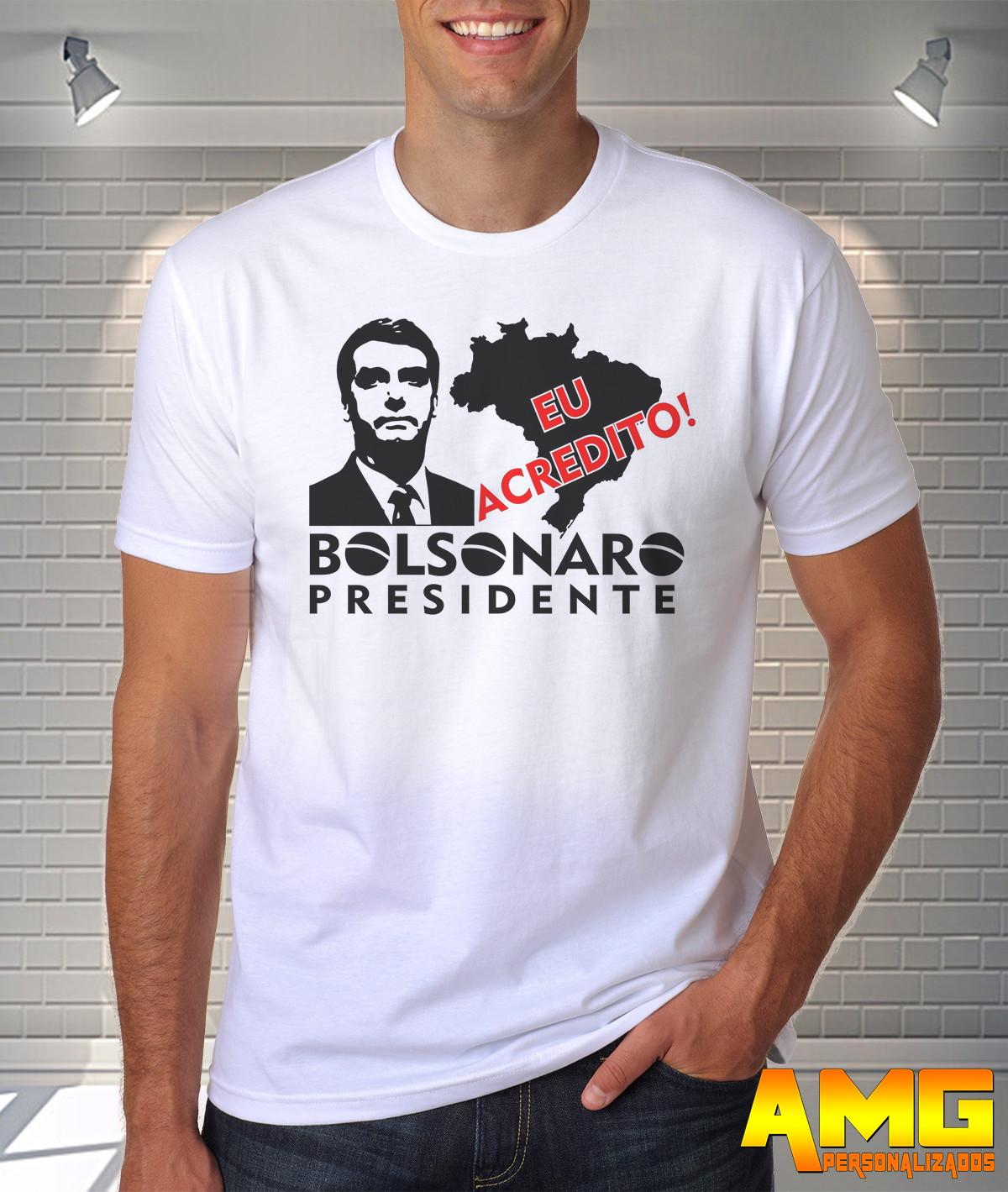 Camisa Camiseta Bolsonaro Presidente 2018  565502c891e