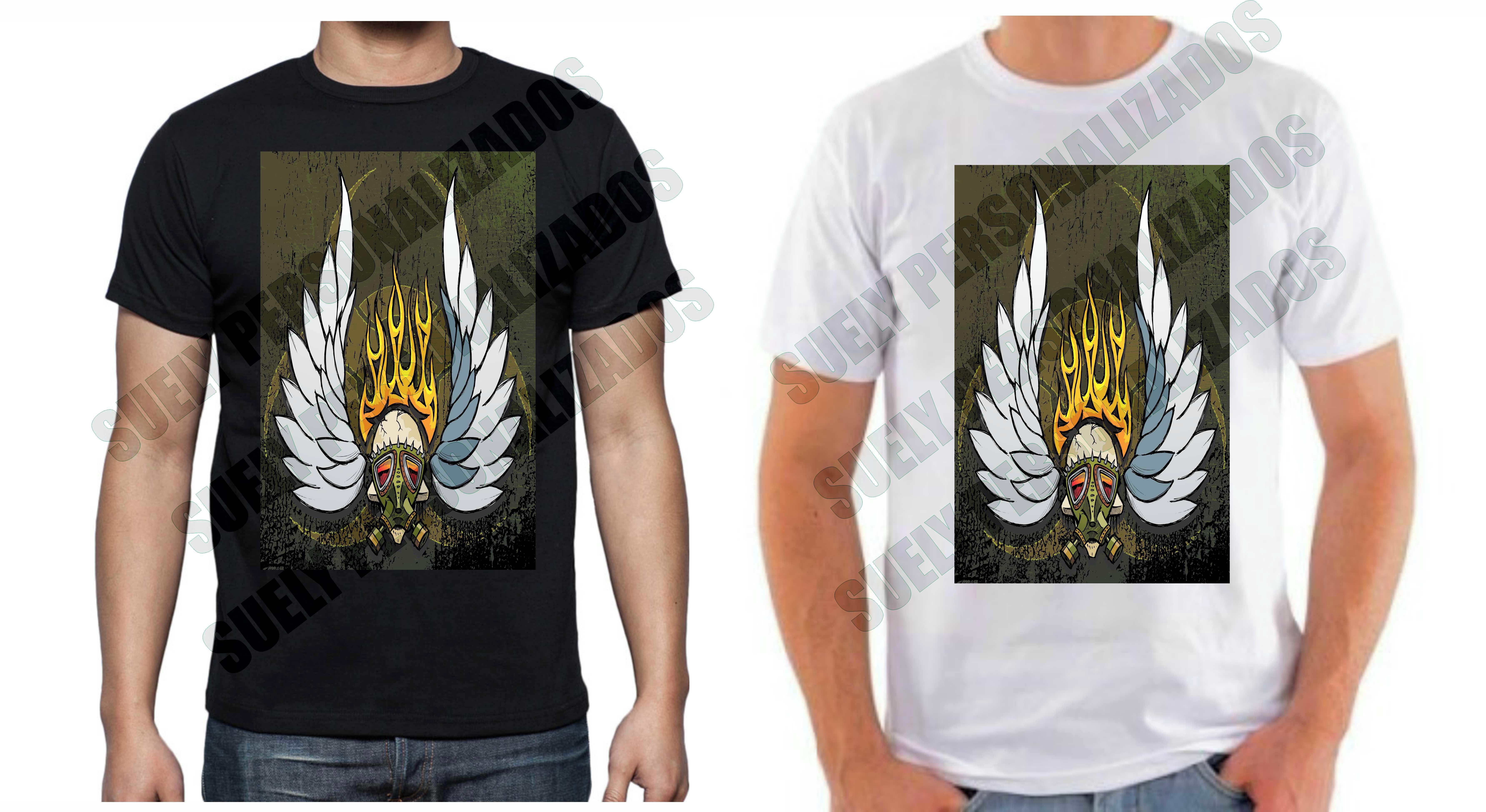 Camisa Caveira Alada  44de62770e3d1