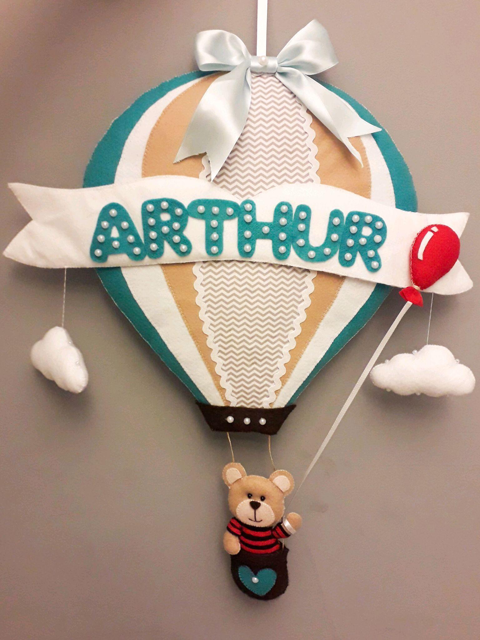 Enfeite porta maternidade balão no Elo7  6a728120fd2aa