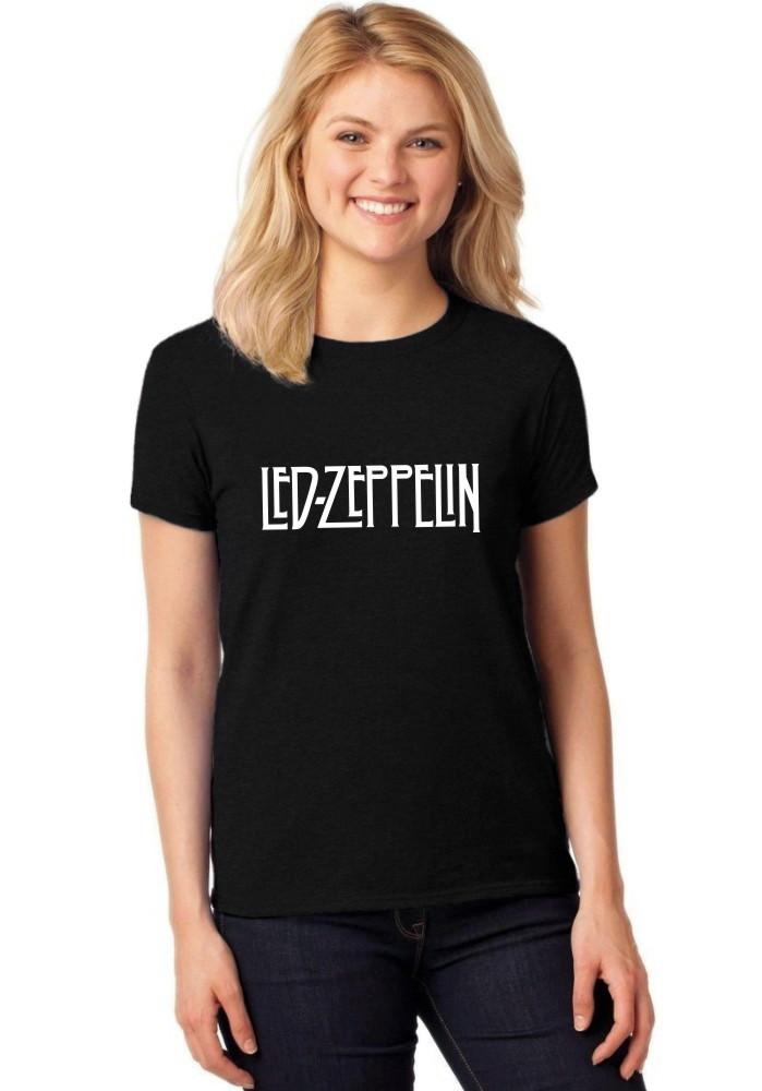 1859f396de T Shirt Camiseta Baby Look Feminina Led Zeppelin