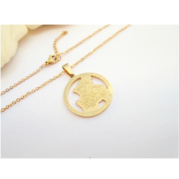 72d0147c8a99f Colar de Prata com Medalha Sao Jorge   Elo7