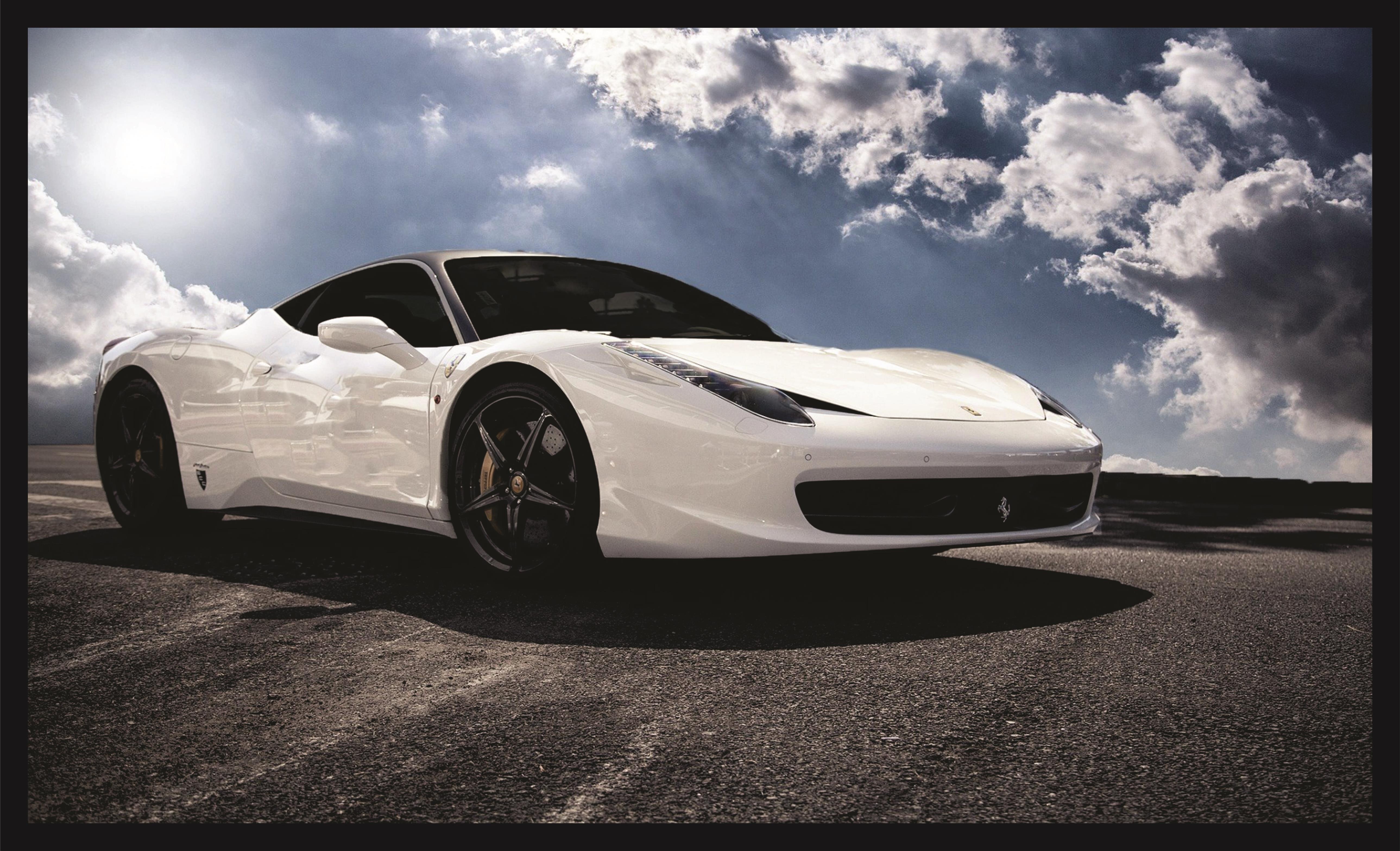 Quadro Decorativo Ferrari Preta Cedro Preto  4df9ea0ff2d