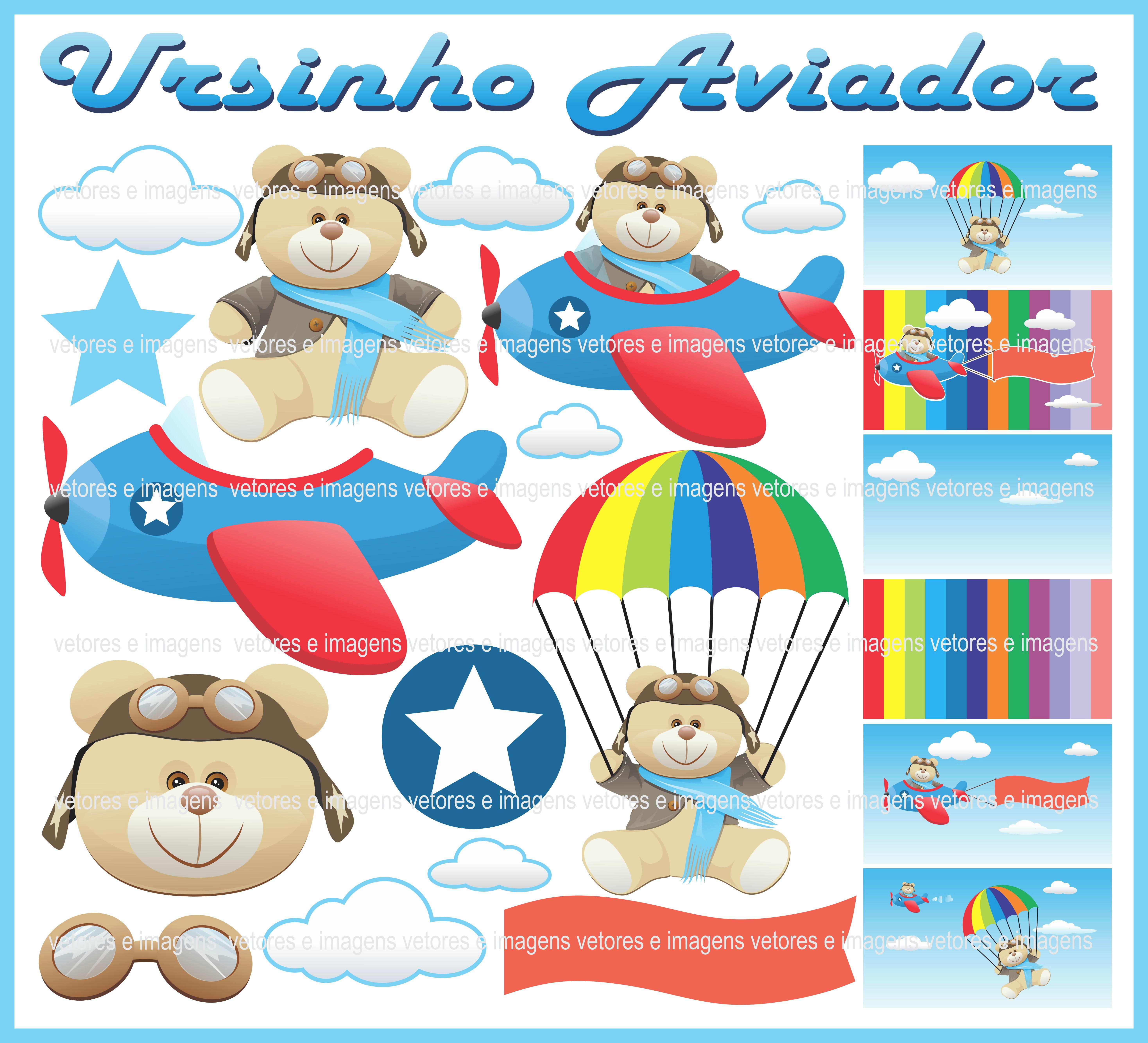 Ursinho Aviador Principe Urso Vetores E Imagens No Elo7 Mr