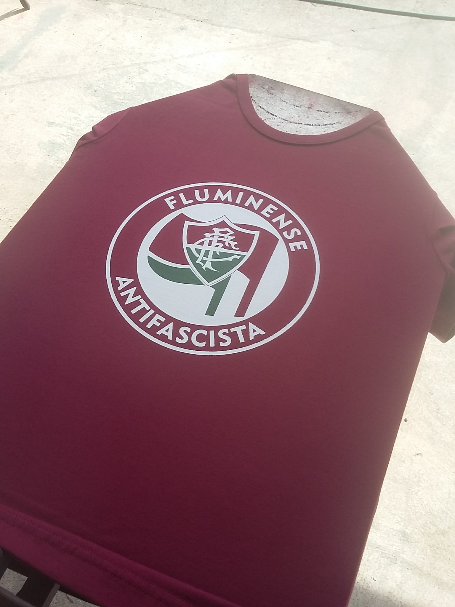 Camisa Fluminense Antifascista Grena  0cd20783ba8f1