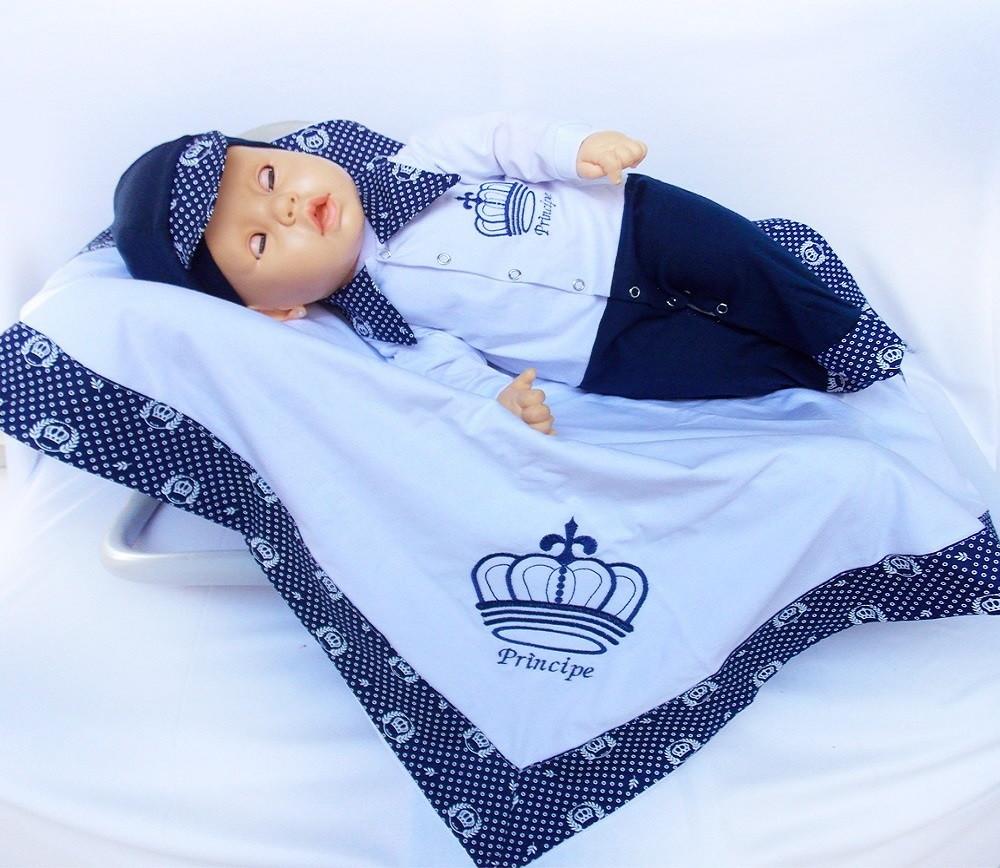 Kit Saida de Maternidade para Meninos Azul Principe  ad10792f25c