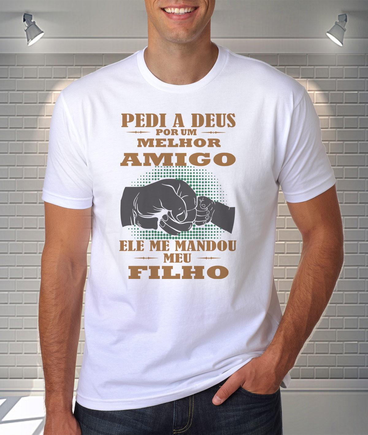 0897f6fe7 Camiseta Pedi a Deus Um Filho Mandou Um Anjo