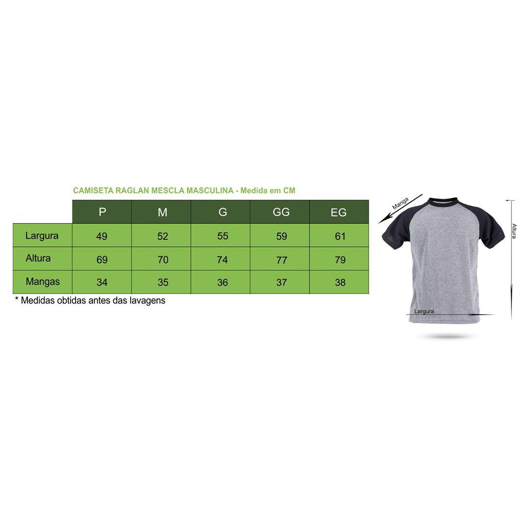 31c6947fe3 Camiseta Raglan Mescla Masculina Personalizada no Elo7