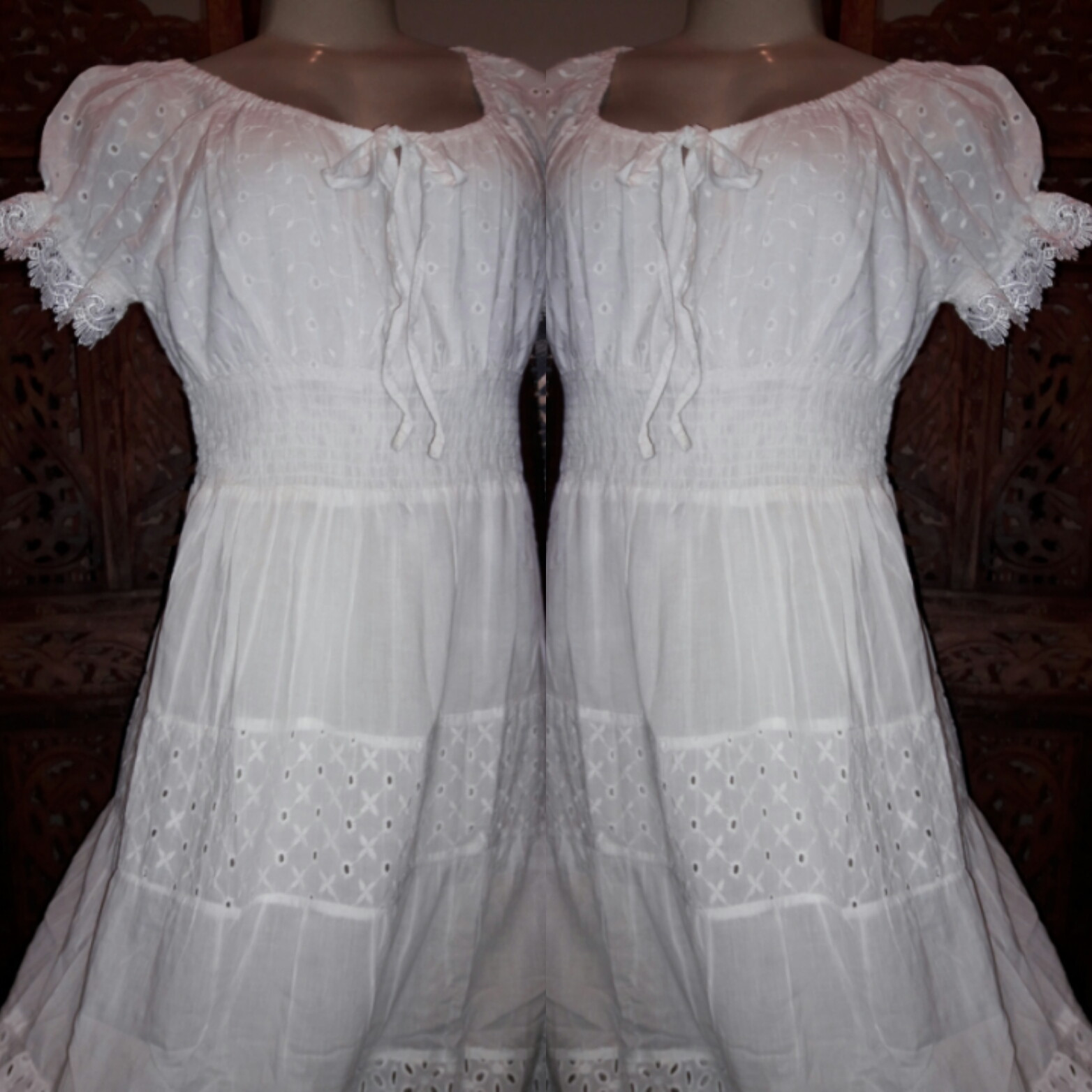 6623440af Vestido Branco Lese Retro Festa Promocao | Elo7
