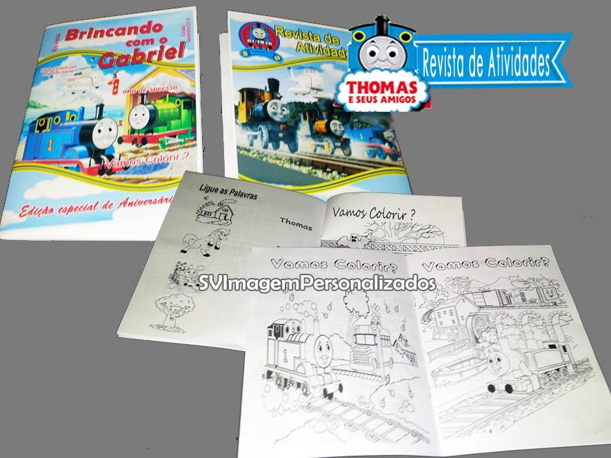 Revista para Pintar Thomas e Seus Amigos | Elo7