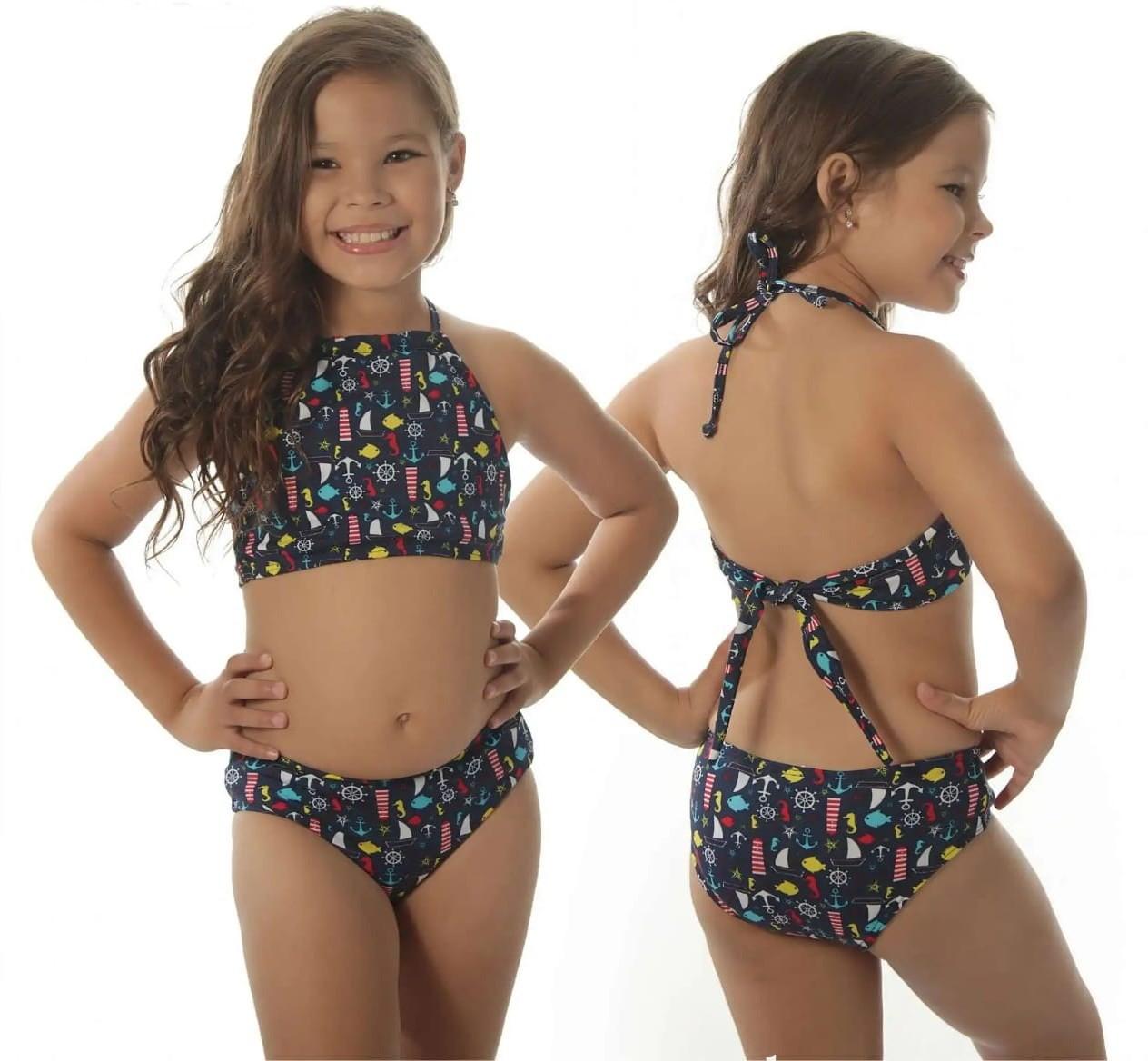 Biquini Cropped Infantil - Criança de 2 a 12 Anos no Elo7  022d5994343dd