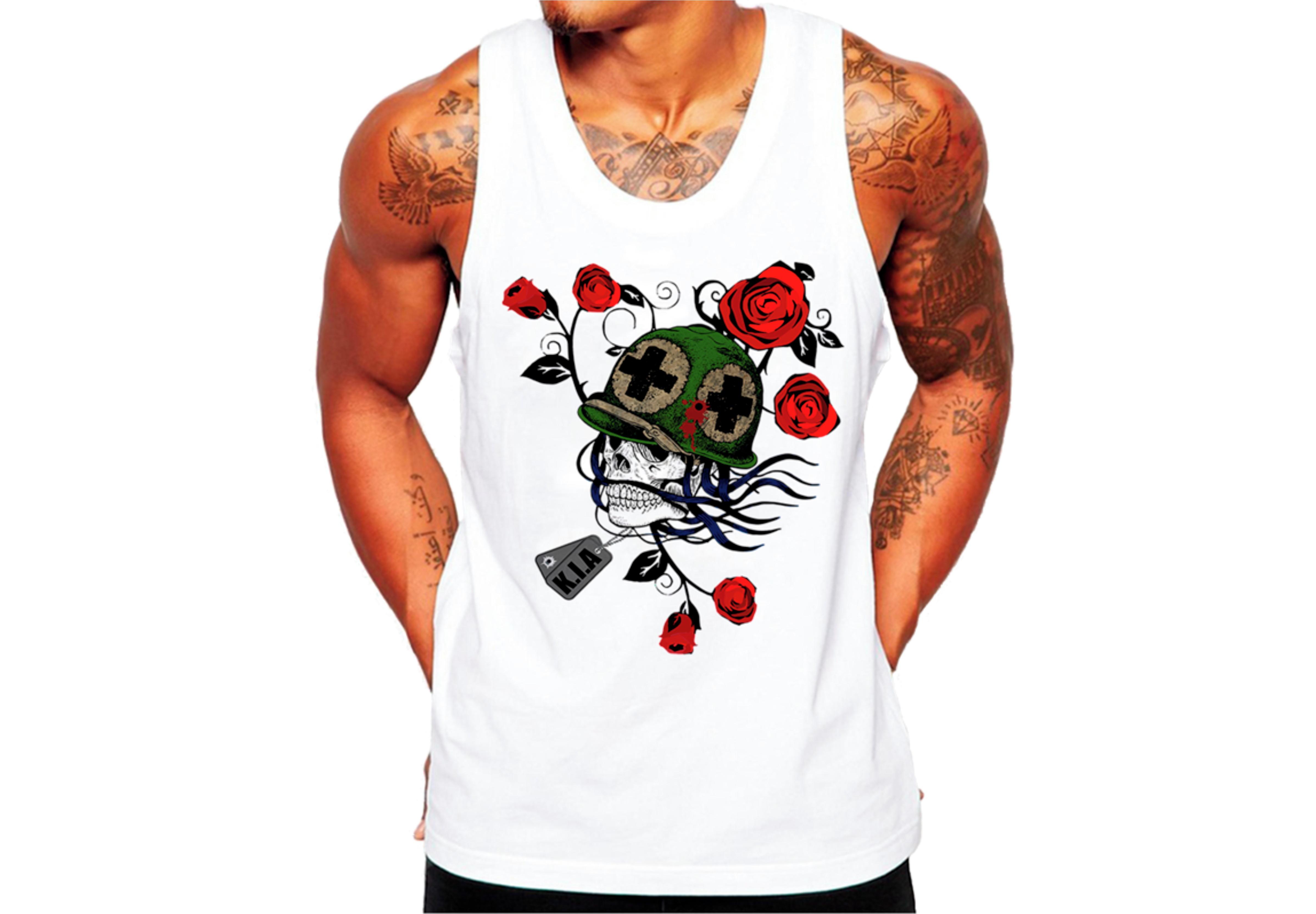 Camiseta Caveira Flores Tattoo Sex  91fee775fe0