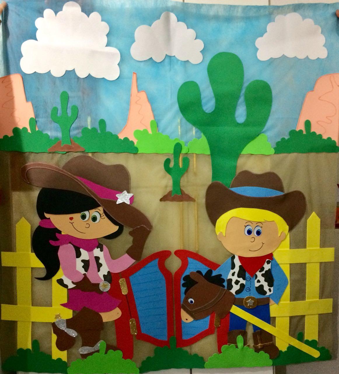 b8812910434 Painel em Eva Menino Cowboy | Elo7