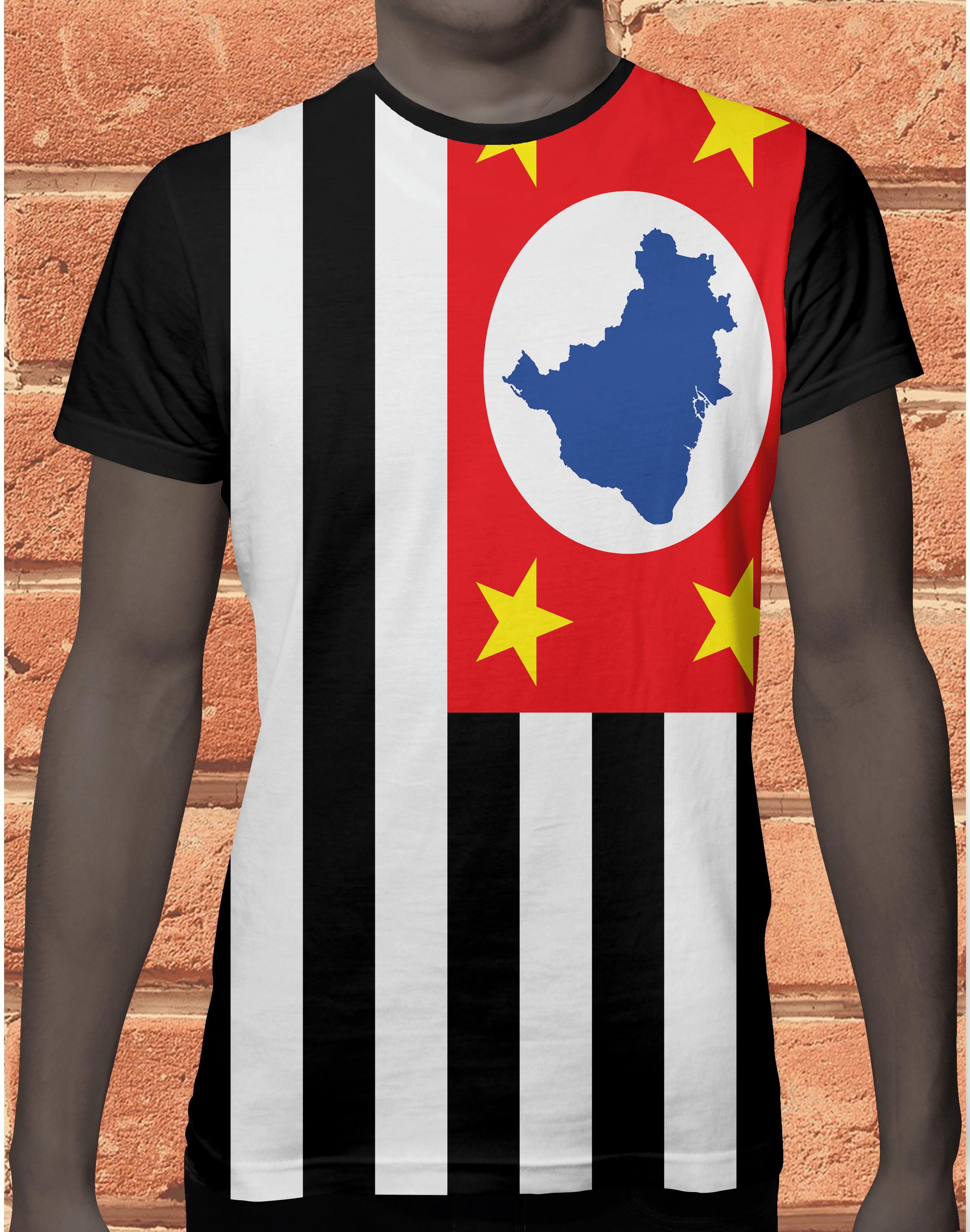 Camisa Feminina Bandeira do Brasil  659d22a85c22c