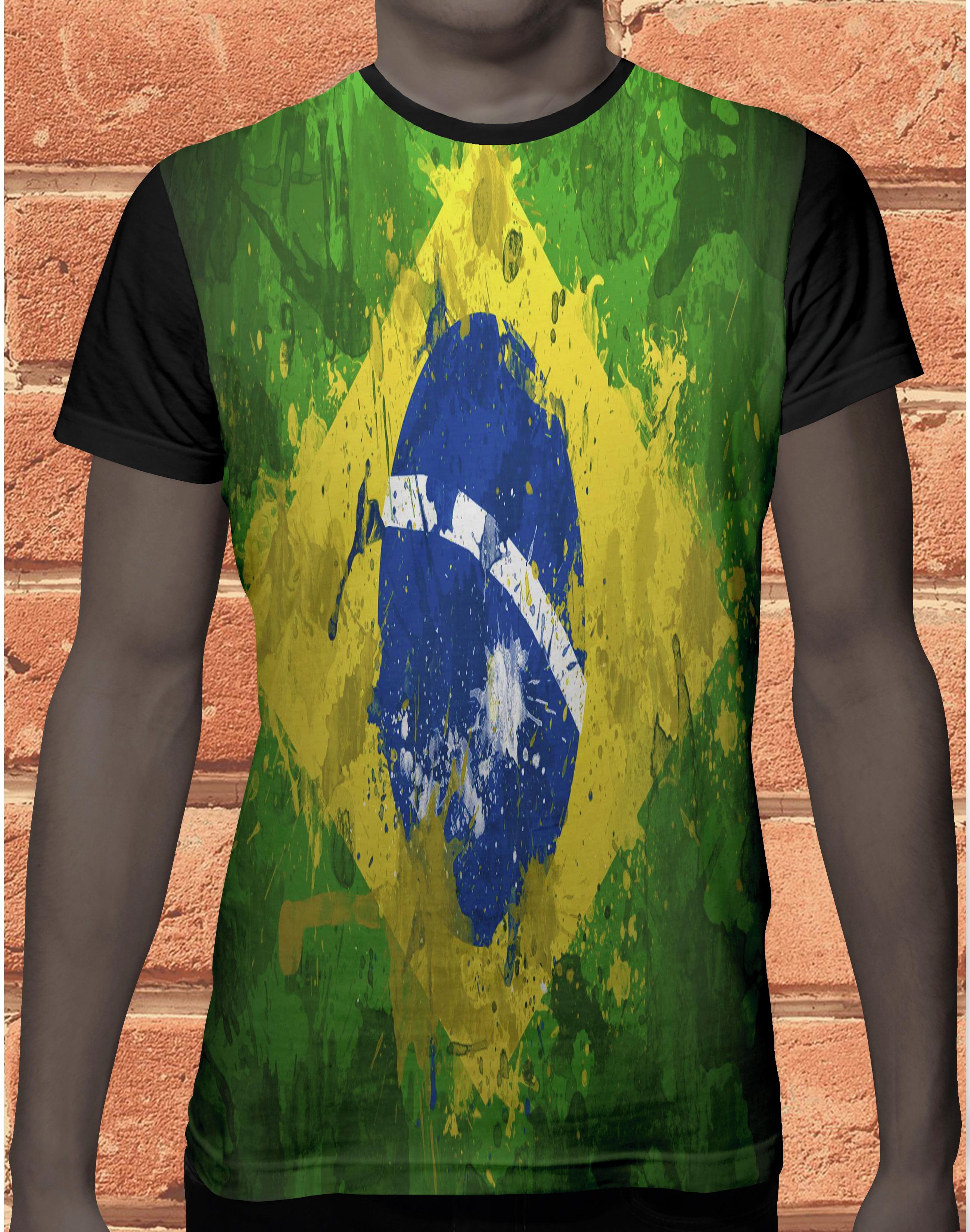9266033ac Camiseta Camisa Bandeira Sao Paulo Brasil 891 no Elo7