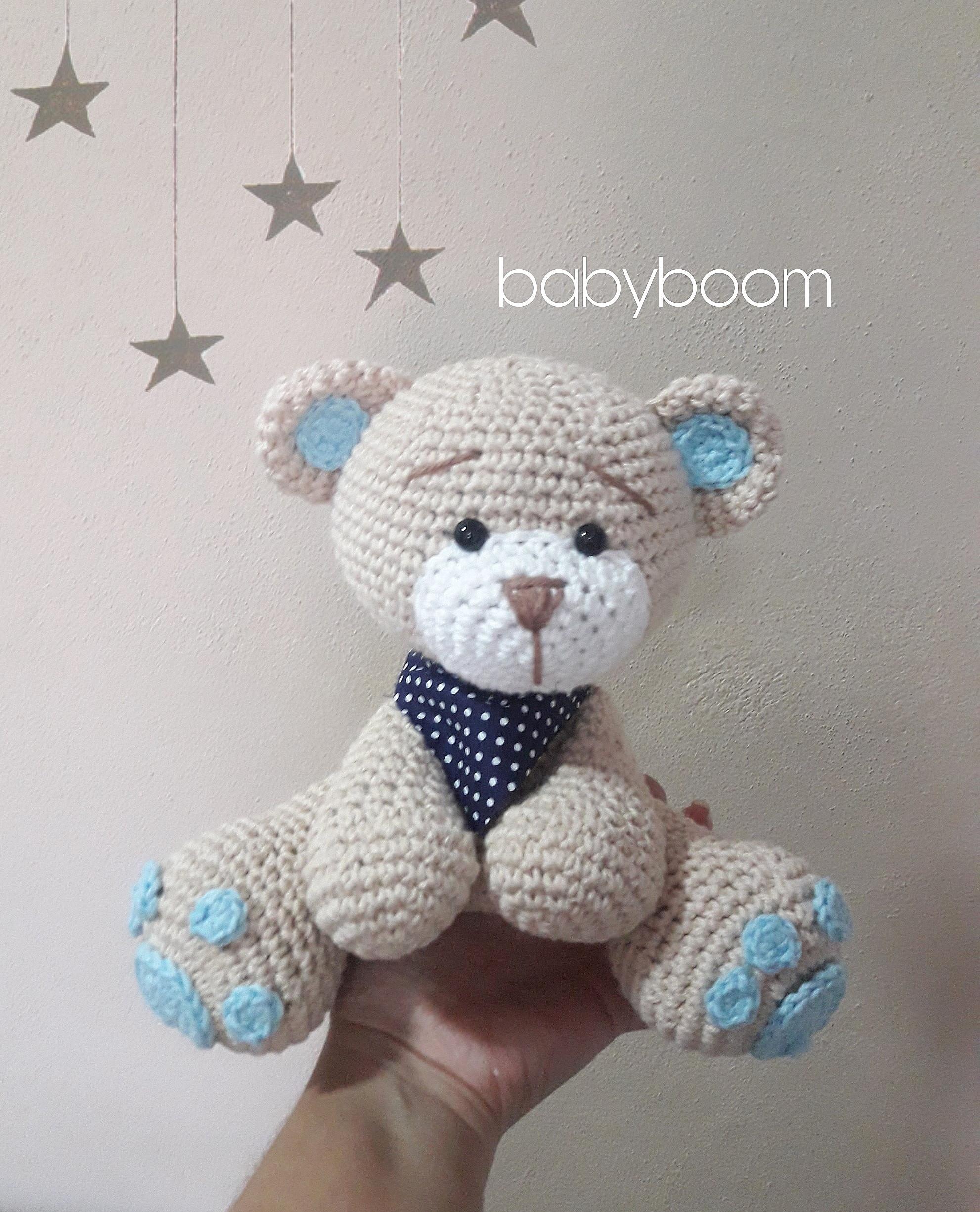 Urso aviador em Amigurumi + nome do bebê em tricotin Personalize ... | 2451x1982
