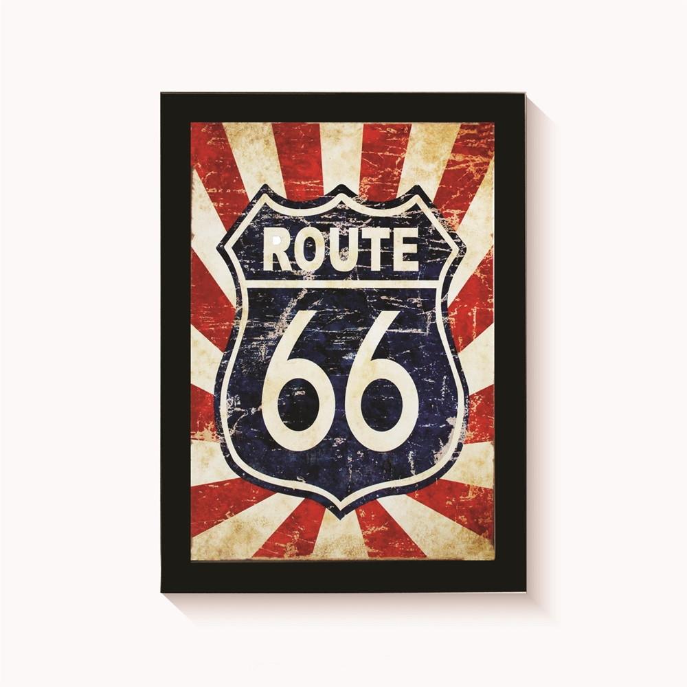 Quadro Route 66 Decoracao Casa Sala Moldura 30x20cm No Elo7 Mabo