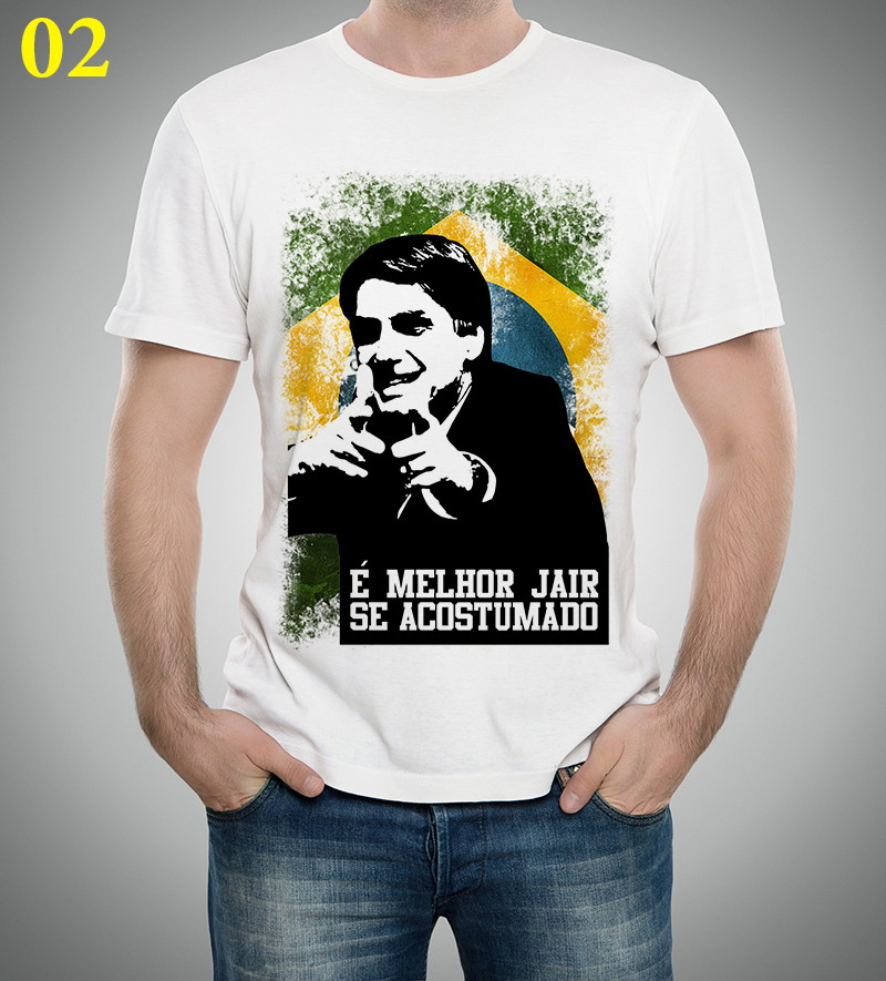 4fd82ce34d Camiseta ou Baby Look Jair Bolsonaro Presidente 2018 no Elo7 ...