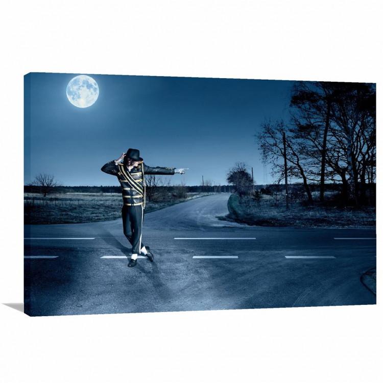 43da76599f5 Quadro Michael Jackson Show Decorativo com Tela em Tecido