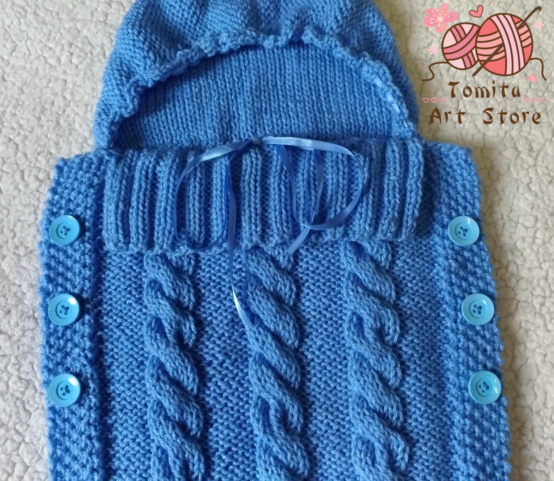 967f639f4899 Saco de dormir para bebê em tricô no Elo7 | Tomita Art Store (D7B53B)