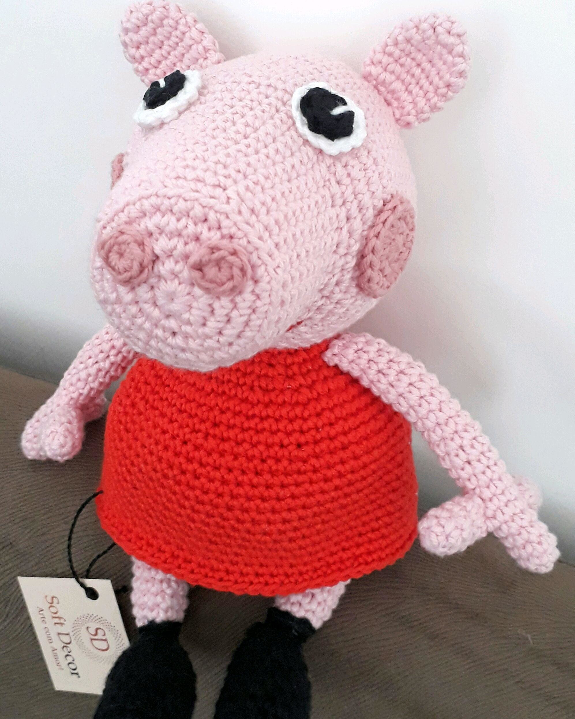 Peppa Pig - free crochet pattern   Crochet pig, Crochet patterns ...   2493x1993
