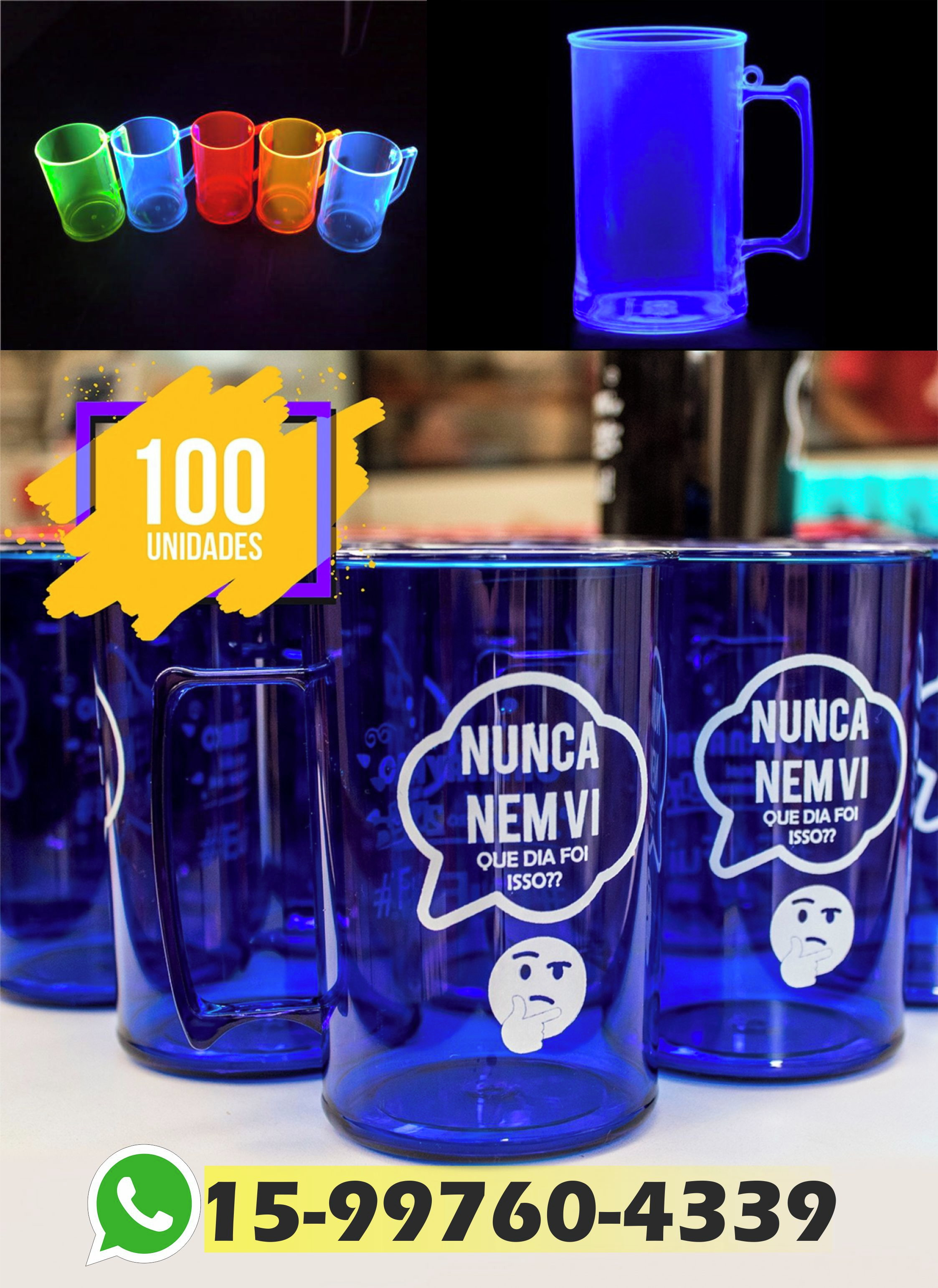 06613dd4a Kit 100 Copos Long Drink 330ml Personal