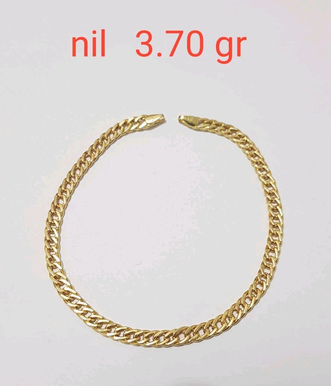 468d6e7996f12 Pulseira Grumet Grossa em Ouro 18k   Elo7