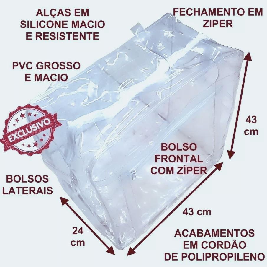 c8746ce85 Sacola em PVC cristal grosso tamanho grande no Elo7 | Mania Mariana (D7D9CE)