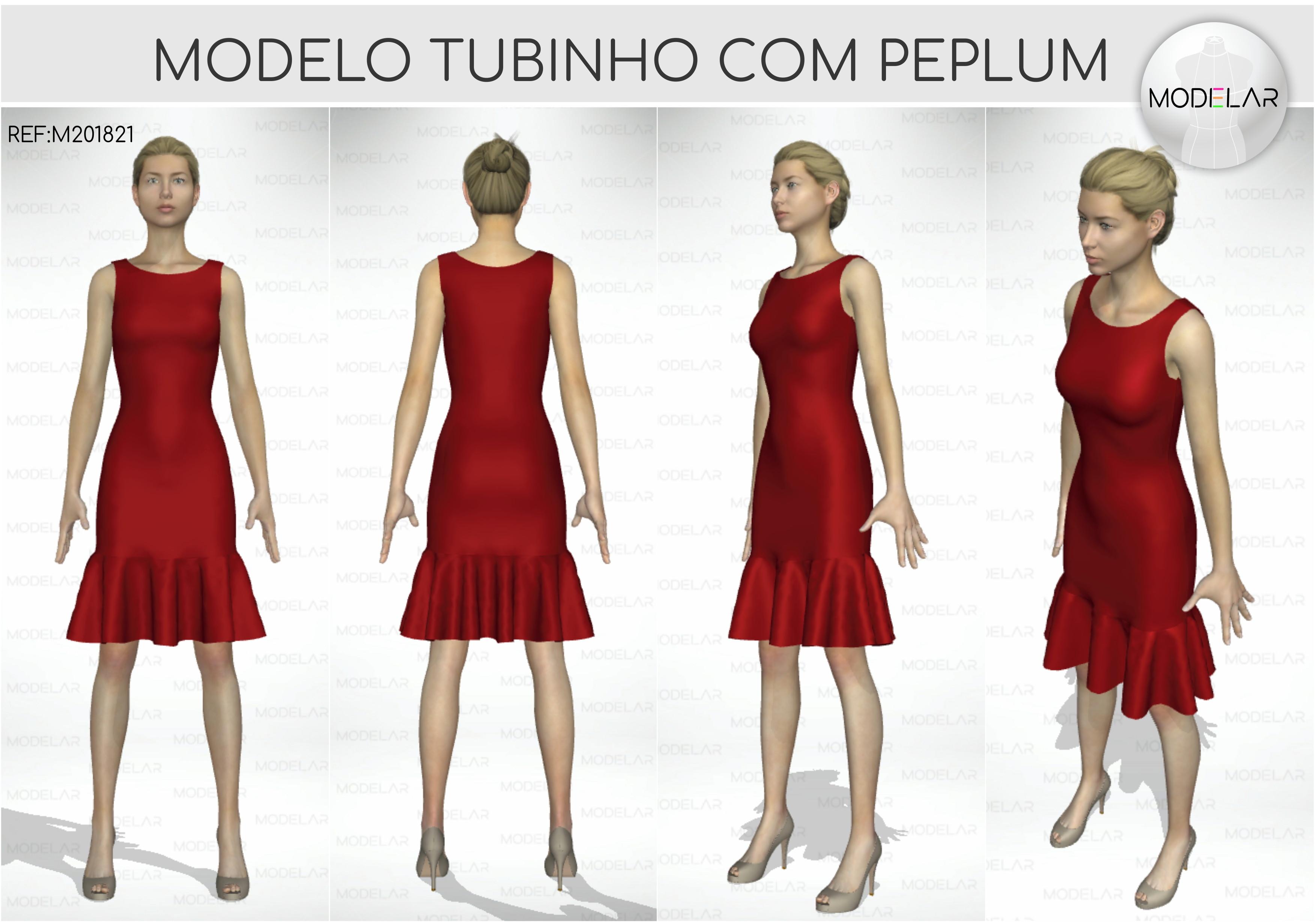 c76e10f6aa Vestido Tubinho de Manguinha