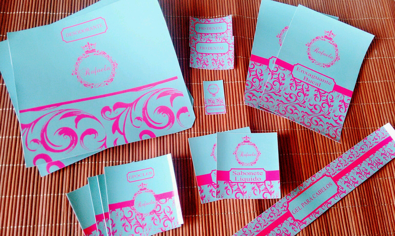 Kit Toalete Banheiro Azul Tiffany e Pinky - Fem Masc no Elo7   Papel Decor  Produtos Personalizados (D82539) 0631268cea