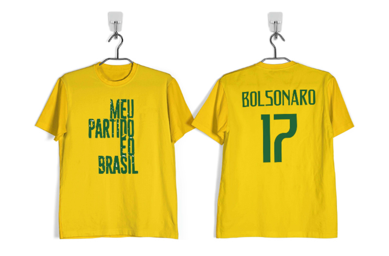 219ad44744 Camisa Amarela Meu Partido É o Brasil