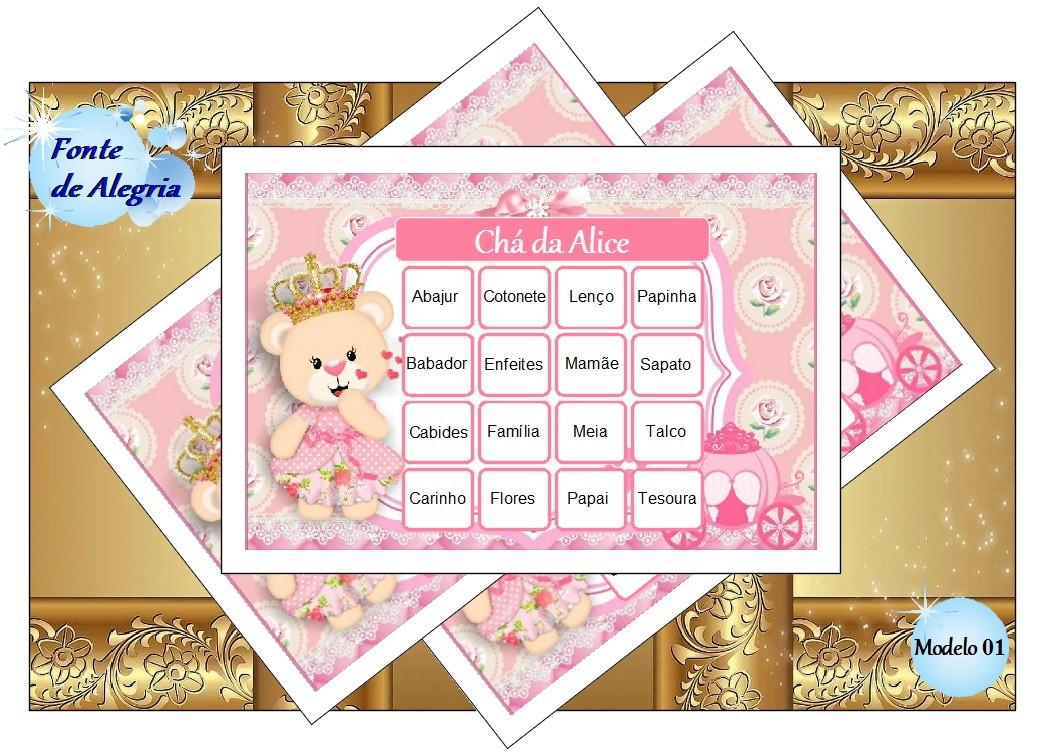 Bingo de Chá de Bebê Chuva de Amor para imprimir - Menina no Elo7 | Fonte  de Alegria (D7E07C)