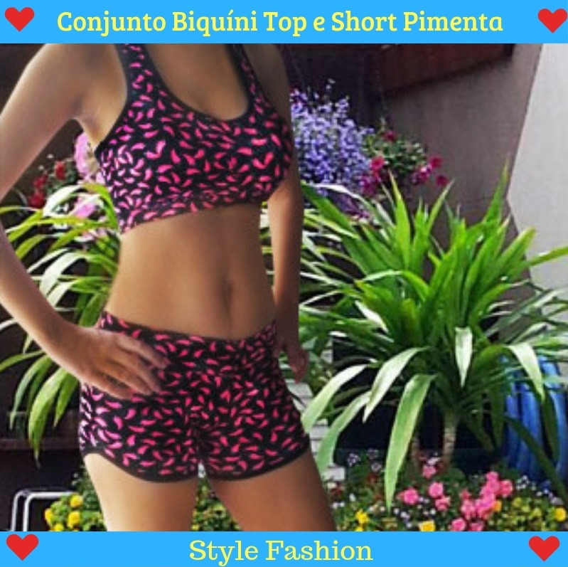 244d93795 Conjunto Biquini Feminino Top e Short Moda Praia | Elo7
