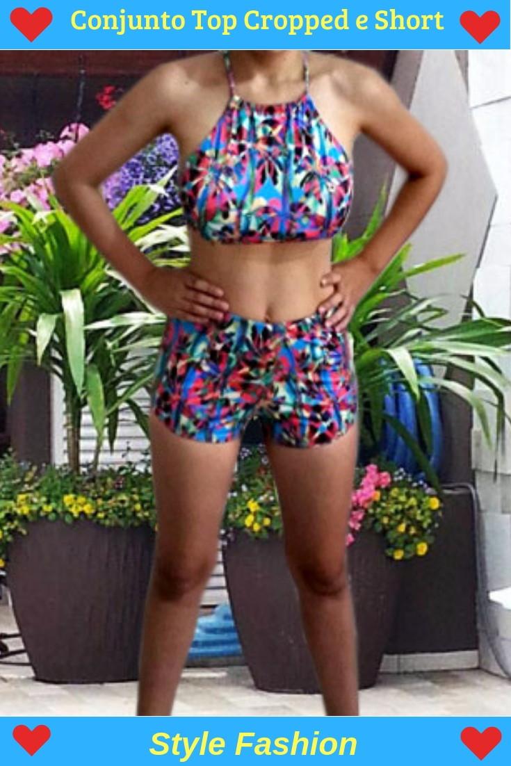 9f92b21f6 Conjunto Biquíni Top e Short Moda Praia Verão - Confira! - Coleção de Style  Fashion (@stylefashion) | Elo7