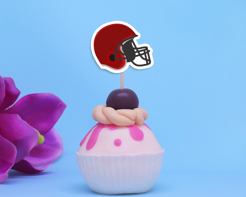 7bac64f3a7 Topper para doces -capacete futebol americano no Elo7